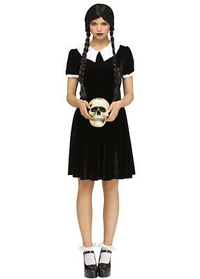 $ CDN22.49 • Buy Womens Wednesday Addams Style Gothic Girl Costume INCLUDES DRESS ONLY
