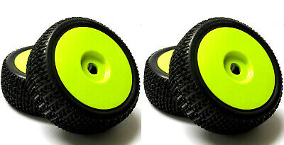 180116 1/8 Scale Off Road Nitro Buggy RC Wheels And Tyres Disc Light Green X 4 • 20.99£