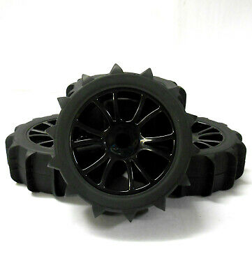 180141 1/8 Scale Sand Snow Nitro Buggy RC Wheels And Tyres Black X 4 • 23.99£