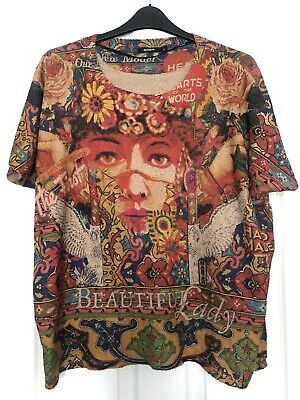Desigual Size S Small Oversized Loose Fit  'beautiful Lady' Top • 1.04£