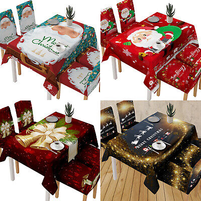 AU30.68 • Buy Christmas Tablecloth Table Cover Cloth Xmas Party Dining Room Kitchen Home Decor
