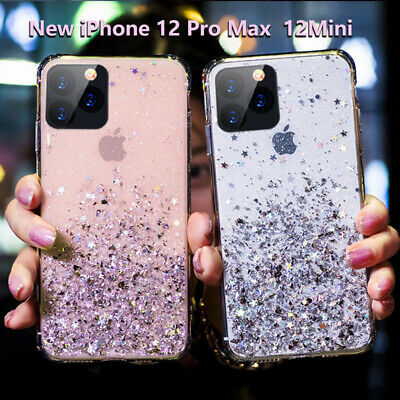AU10.98 • Buy GLITTER Case For IPhone 12 Pro 11 Pro Max SE X XS 8 7 Shockproof Clear Gel Cover
