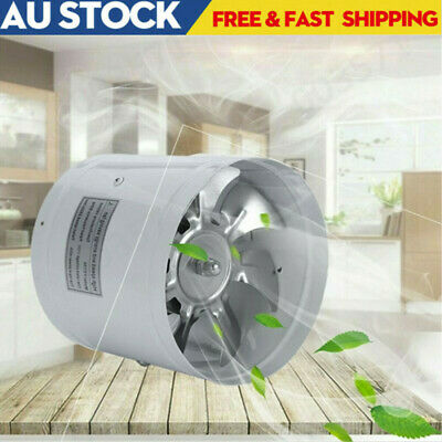 AU27.89 • Buy 4  6  Inch Duct Booster Inline Blower Vent Fan Cooling Exhaust Plastic Blade AU