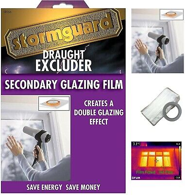 £17.95 • Buy Stormguard Secondary Double Glazing Window Insulation Film Draught Excluder Seal