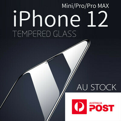 AU4.97 • Buy IPhone 12 Mini Pro Max Tempered Glass Screen Protector | Accessories 5.4 6.1 6.7