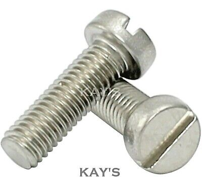 £0.99 • Buy M2 M2.5 M3 Slotted Cheese Head Machine Screws A2-70 Stainless Steel Screw Bolt