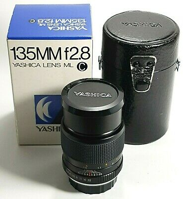 Yashica ML 135mm F2.8 C Prime Lens Boxed UK Fast Post • 79.95£