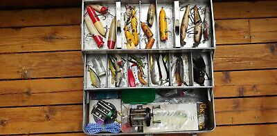 $ CDN267.31 • Buy 1960s All Metal Tackle Box With Older Than Vintage Contents