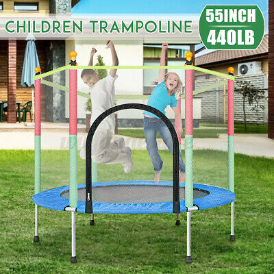 AU89.69 • Buy 4.6FT Round Indoor Outdoor Trampoline Kids Playing Jumping Bed Enclosure Pads AU