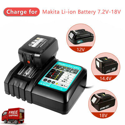 For Makita DC18RC Replacement Fast Battery Charger Screen 7.2V-18V UK Plug • 18.89£