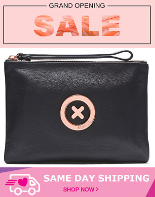 AU45 • Buy Mimco Supernatural Medium Pouch Clutch Wallet Black Rose Gold- Same Day Shipping