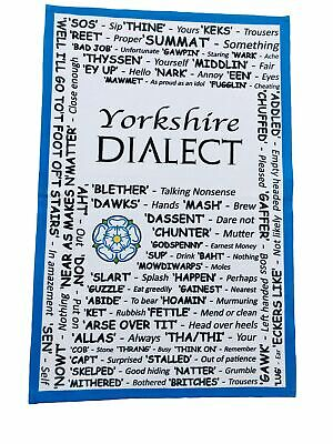 Yorkshire Dialect Tea Towel - Great Yorkshire Gift - YSH-TT • 6.95£