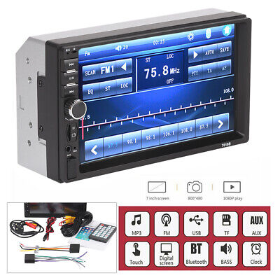 Bluetooth Car Radio Stereo 7 Inch Double 2DIN FM USB/MP5 Player Touch Screen SD • 25.89£