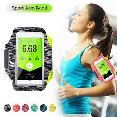 Luminous Sports Armband Mobile Phone Holder Bag Running Jogging Gym Case Cover • 4.19£