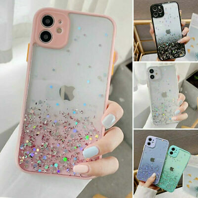 AU9.98 • Buy Cute Bling Glitter Clear Case Girls Cover For IPhone 11 Pro Max 8 Plus XR XS Max