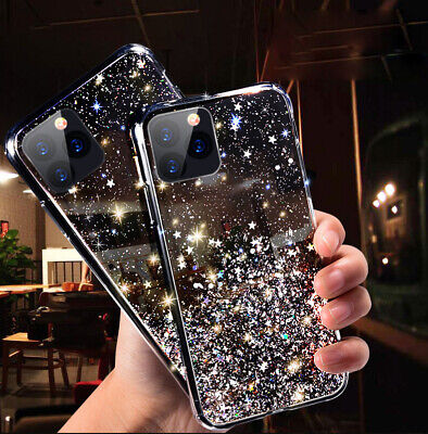 GLITTER Case For IPhone 11 12 Pro XS Max XR 8 7 Plus Shockproof Protective Cover • 3.95£