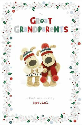 Boofle To Great Grandparents Glitter At Christmas Greeting Card Cute Xmas Cards • 3.29£