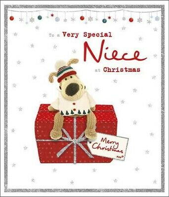 £4.59 • Buy Boofle Very Special Niece Glitter Christmas Greeting Card Cute Xmas Cards
