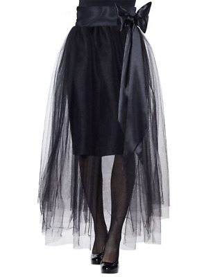 Long Tulle Skirt With Sash Belt Halloween Costume Cosplay Womens Xl 14-16 New • 18£