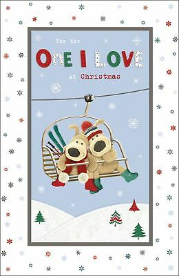 Boofle The One I Love At Christmas Foil Christmas Greeting Card Cute Xmas Cards • 3.99£