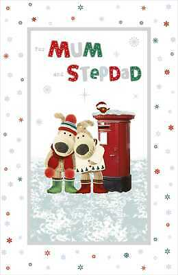 £5.59 • Buy Boofle For Mum & Stepdad Embellished Christmas Greeting Card Cute Xmas Cards