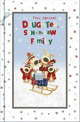 £5.59 • Buy Boofle Daughter, Son-In-Law & Family Christmas Greeting Card Cute Xmas Cards