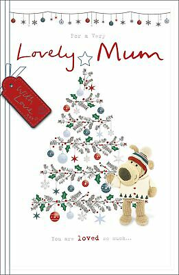 Boofle A Very Lovely Mum Embellished Christmas Greeting Card Cute Xmas Cards • 5.99£