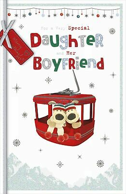Boofle Daughter & Boyfriend Embellished Christmas Greeting Card Cute Xmas Cards • 5.99£