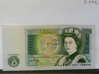 NEWTON £1 ONE POUND NOTE Signed Page A80 168848 (20.8.292) • 3.20£