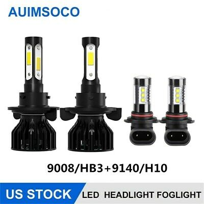 $33.94 • Buy Parts Accessories For Ford F-150 2004-2014 LED Headlight Hi/Lo+Fog Light Bulbs