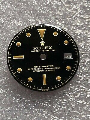 $ CDN462.51 • Buy Dial Tropical Glossy Gilt For Rolex GMT Master 1675- 1960s ( Refinished )