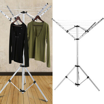 4 Arms Aluminium Rotary Camping Clothes Airer 16m Washing Line Drying Rack • 22.49£