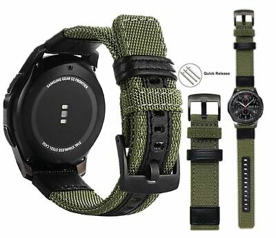 £7.17 • Buy Classic Nylon Strap Accessories For Samsung Galaxy Gear S3 Watch Bands 20mm-22mm