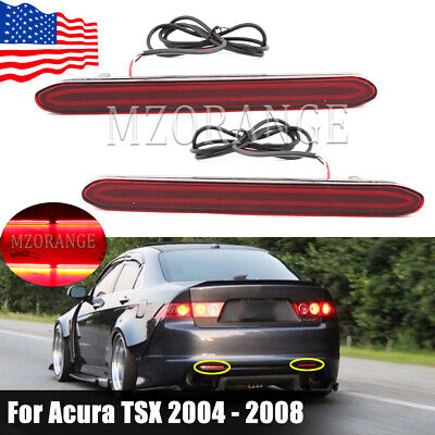 $27.23 • Buy Pair LED Rear Bumper Reflector Light Tail Lamp For Acura TSX 2004 05 06 07 2008