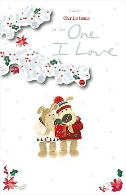 Boofle The One I Love At Christmas Greeting Card Embellished Xmas Cards • 5.99£