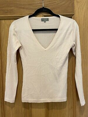 Gorgeous Women's N.Peal Pink Long Sleeve Cashmere Silk Jumper Size S • 39.99£