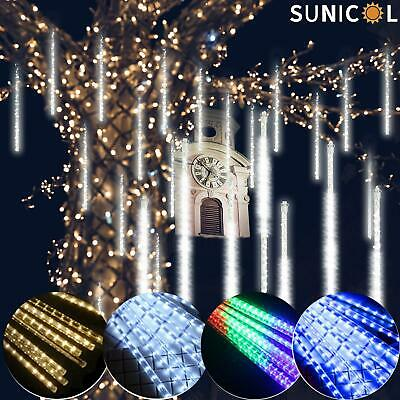 32 Tubes LED Meteor Shower Lights Falling Rain Drop Christmas Party Lamp Outdoor • 8.15£