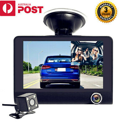 AU99.95 • Buy Uber Taxi Dual Triple Dash Cam 1080P Dashcam Car Reversing Camera Video Recorder