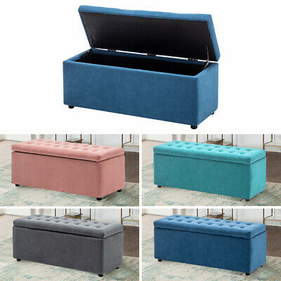 Ottoman Seat Stool Bench Chest Toy Box Storage Pouffee Bedroom Footstool  • 89.95£