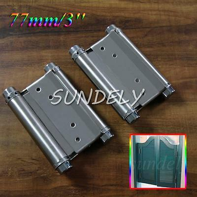 2PCS Door Hinge 3'' Double Action Spring Saloon Swing Internal Doors New! • 12.37£