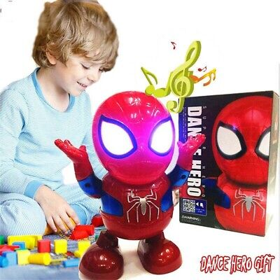 AU18.70 • Buy Toys For Boys LED Spiderman Dance Robot 2 3 4 5 6 7 8 9 Year Age Old Best Gifts