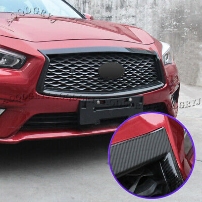 $ CDN463.65 • Buy For Infiniti Q50 2018-2020 Carbon Fiber Front Grille Grill Moulding Trim Cover
