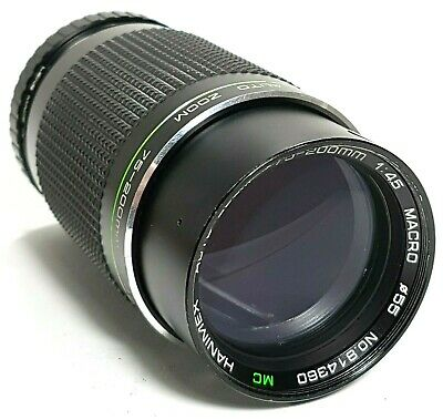 Hanimex 75-200mm F4.5 MC Macro Zoom Lens M42 UK Fast Post • 24.95£