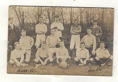 Ruabon A.F.C. FOOTBALL TEAM ? OLD R.P.POSTCARD PU.1904 • 9.99£