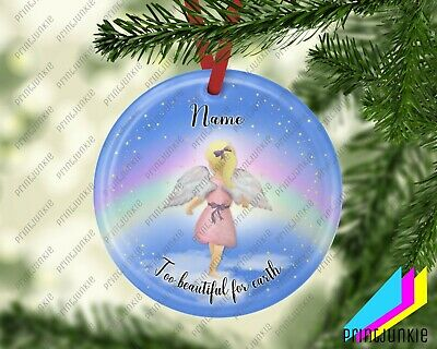 Personalised Infant/ Child Loss Ceramic Hanging Decoration • 7.95£