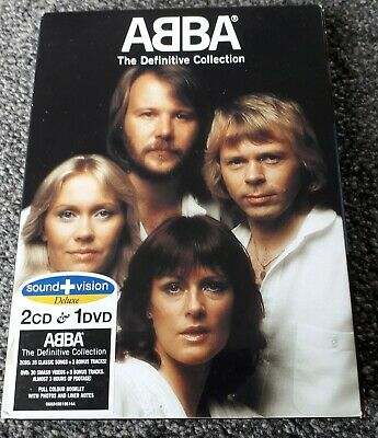 Abba - The Definitive Collection(2004) Deluxe Sound+Vision 2 CD & 1 DVD BOX SET • 10.99£