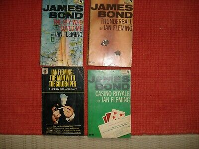 IAN FLEMING-JAMES BOND X 7 1960's ORIG'.P/B-3 X 1ST ED-THUNDERBALL-CASINO ROYALE • 5.99£