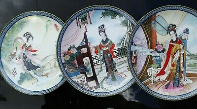 Chinese Imperial Jingdezhen Porcelain 3 Plates 85-86 Beauties Of The Red Mansion • 10£