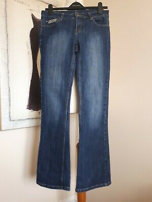Ethel Austin Jeans, Size 10 Bootcut With Embellished Sequin Pockets VGC • 0.99£