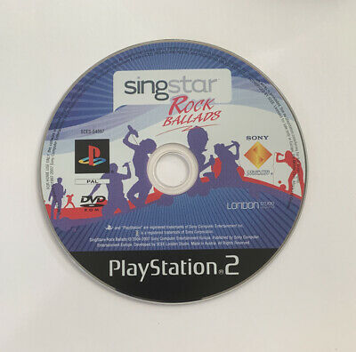Singstar Rock Ballads PS2 Playstation 2 Game Disc Only • 2£